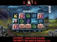 Highlander Slots Free Spins Triggered