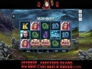 Highlander Slots Free Spins Triggered