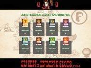 Joe Fortune Reward Levels