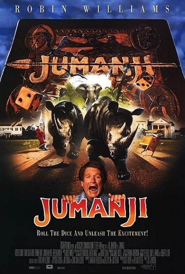 Jumanji Official Movie Poster 1995