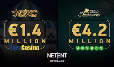NetEnt Slots Jackpots June 2018