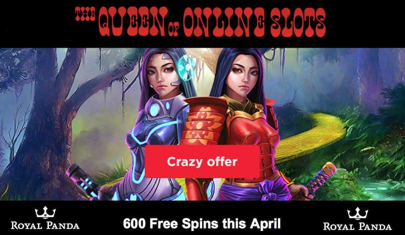 600 Free Spins at Royal Panda Casino for April 2019