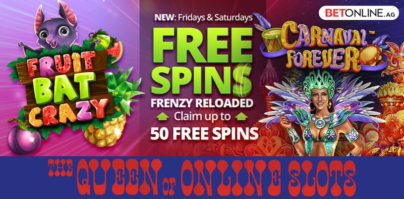 Free Spins at BetOnline Casino for May 2019