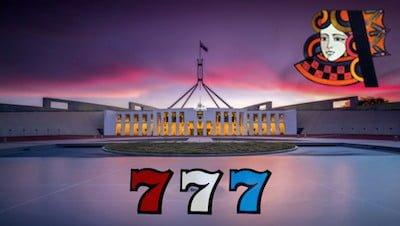 Australian Parliament at Sunset