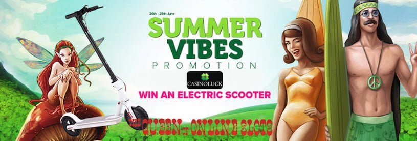 Summer Vibes Promotion at Casino Luck Gets Groovy with Electric Scooter Giveaway