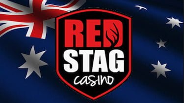 Red Stag Casino with Australian Flag