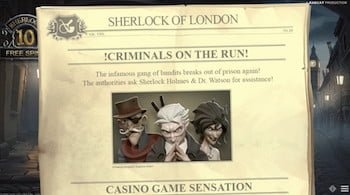 Sherlock of London Slots Screenshot